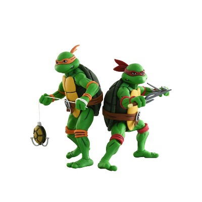 "TMNT MIchelangelo and Raphael 7"" Action Figure 2pk"