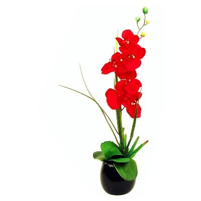 Artificial Orchid Arrangement Red 26  - LCG Florals