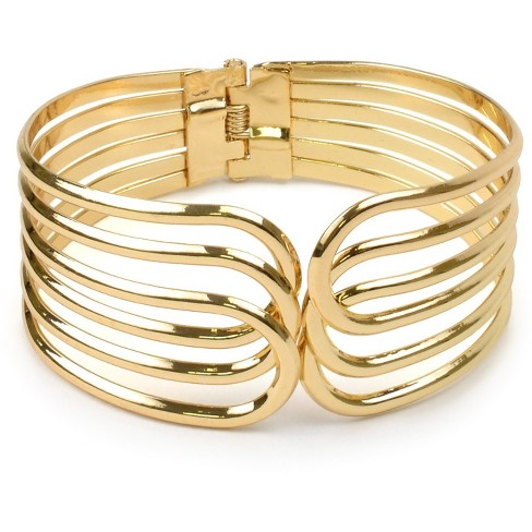 Overlapping Hinge Bracelet - Gold - image 1 of 1