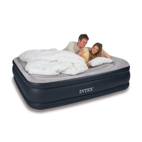 Intex Queen & Twin Elevated Pillow Rest Air Mattress Beds with Built-In Air Pump - image 1 of 4