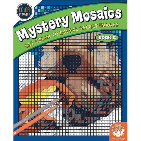 MindWare Color By Number Mystery Mosaics: Book 5 - Coloring Books - image 1 of 3