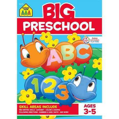 Big Preschool Workbook, Ages 3-5 (School Zone Publishing) (Paperback) - image 1 of 5