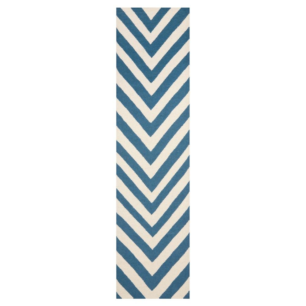 Cheap Nala Dhurry Rug - Blue Ivory - (26x10) - Safavieh