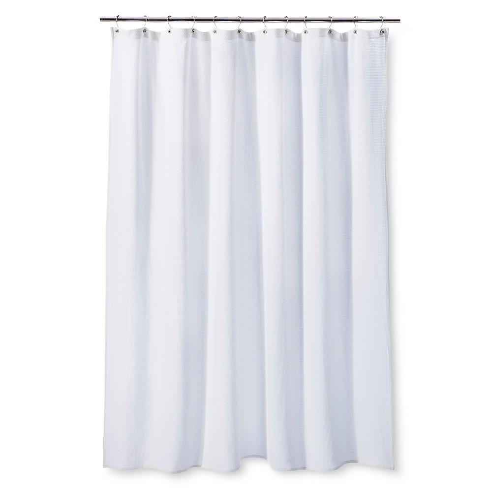 Shower Curtain Birdeye Waffle - Threshold, White