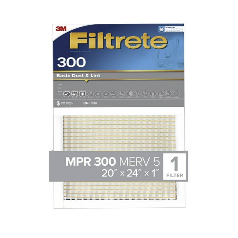Filtrete 20x24x1 Basic Dust and Lint Air Filter 300 MPR - image 1 of 3