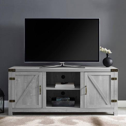 "2 Door Modern Farmhouse Barn Door TV Stand for TVs up to 65"" - Saracina Home - image 1 of 4"
