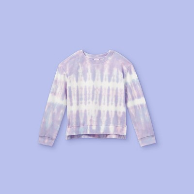Girls' Tie-Dye Pullover Sweatshirt - More Than Magic™