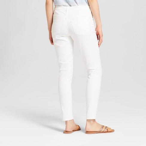 9ca5dc52f35e Women s Mid-Rise Skinny Jeans - Universal Thread™ White   Target