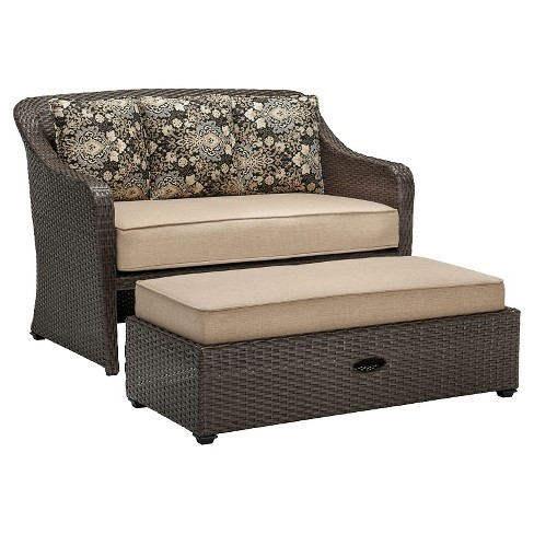 Hanover Outdoor Langdon Hills 2-Piece Cuddle Set - Sandstone - image 1 of 8