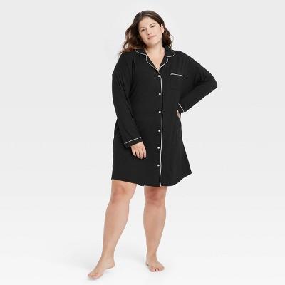 Women's Beautifully Soft Notch Collar Nightgown - Stars Above™