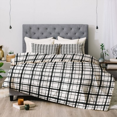 Dash and Ash Painted Plaid Comforter Set - Deny Designs