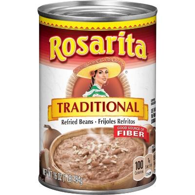 Rosaritas Refried beans 16Oz