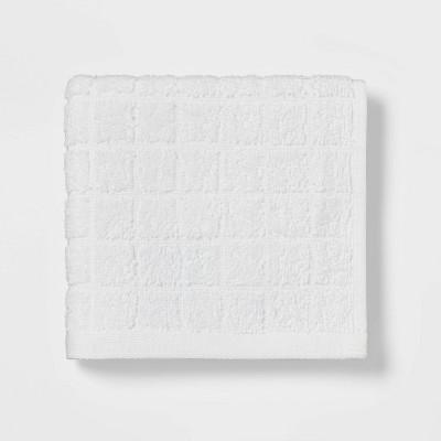 Grid Texture Washcloth White - Room Essentials™