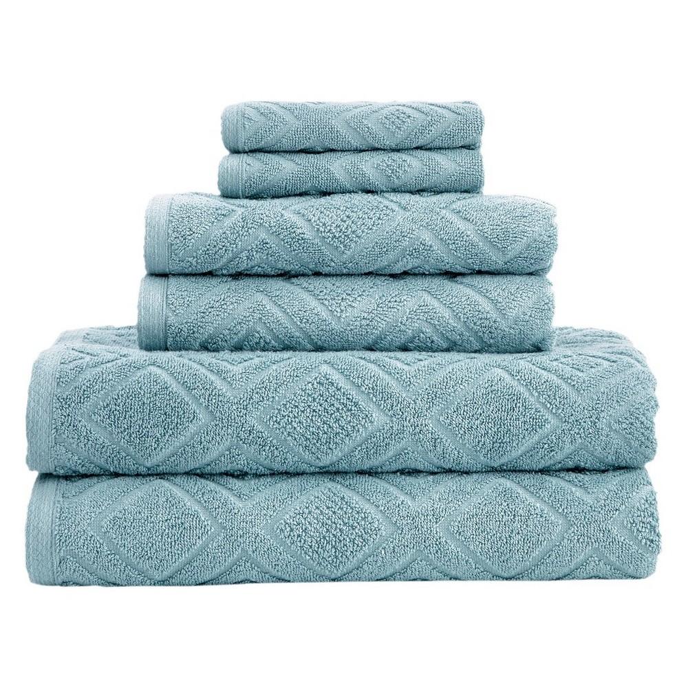 Image of 6pc LaRue Turkish Cotton Bath Towel Sets Sea Grass - Makroteks