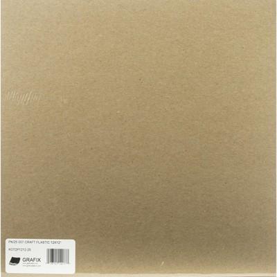 """Grafix Craft Plastic Sheets 12""""X12"""" 25/Pkg-Clear .007"""