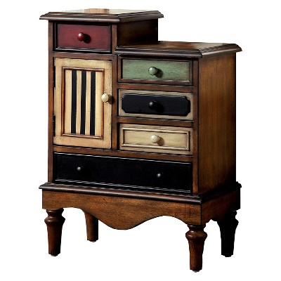 Sun U0026 Pine Felicia Vintage 5 Drawer Accent Chest Multi Colored