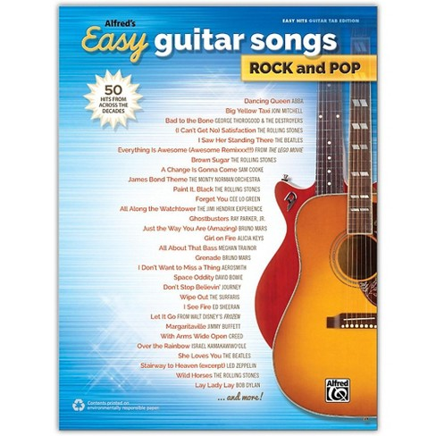 Alfred Alfred's Easy Guitar Songs: Rock and Pop, Easy Hits Guitar TAB Songbook - image 1 of 1