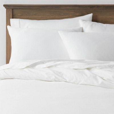 3pc King Washed Cotton Sateen Duvet & Sham Set White - Threshold™