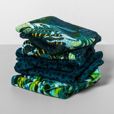 6pk Cool Jungle Palms Wash Pack Navy/Green - Opalhouse™