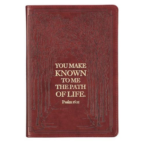 Journal Slimline Luxleather Path of Life - Psa 16:11 - (Leather_bound) - image 1 of 1