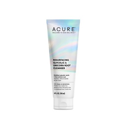 Acure Resurfacing Glycolic & Unicorn Root Cleanser - 4 fl oz