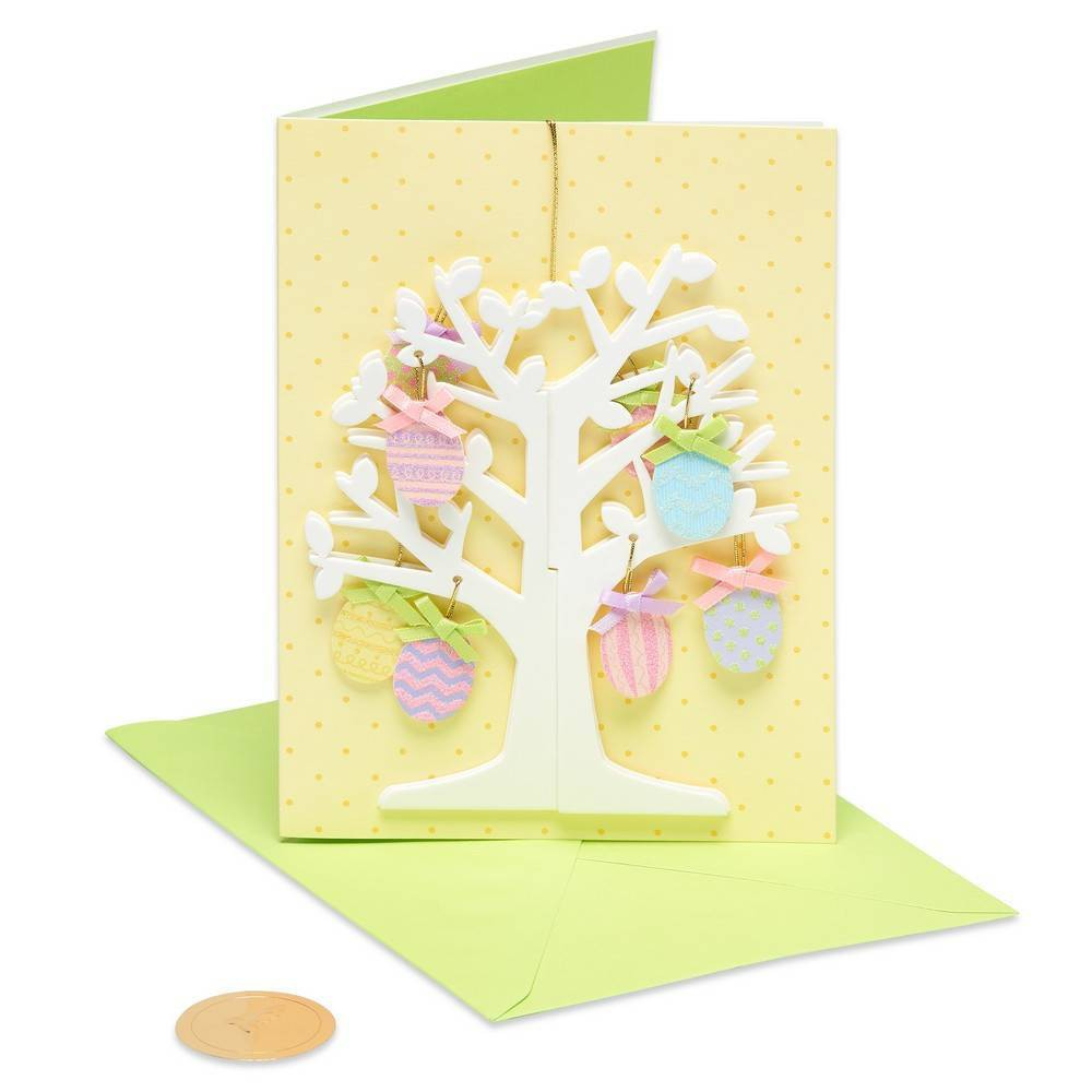 Papyrus Hanging Eggs Tree Easter Greeting Card, Multi-Colored
