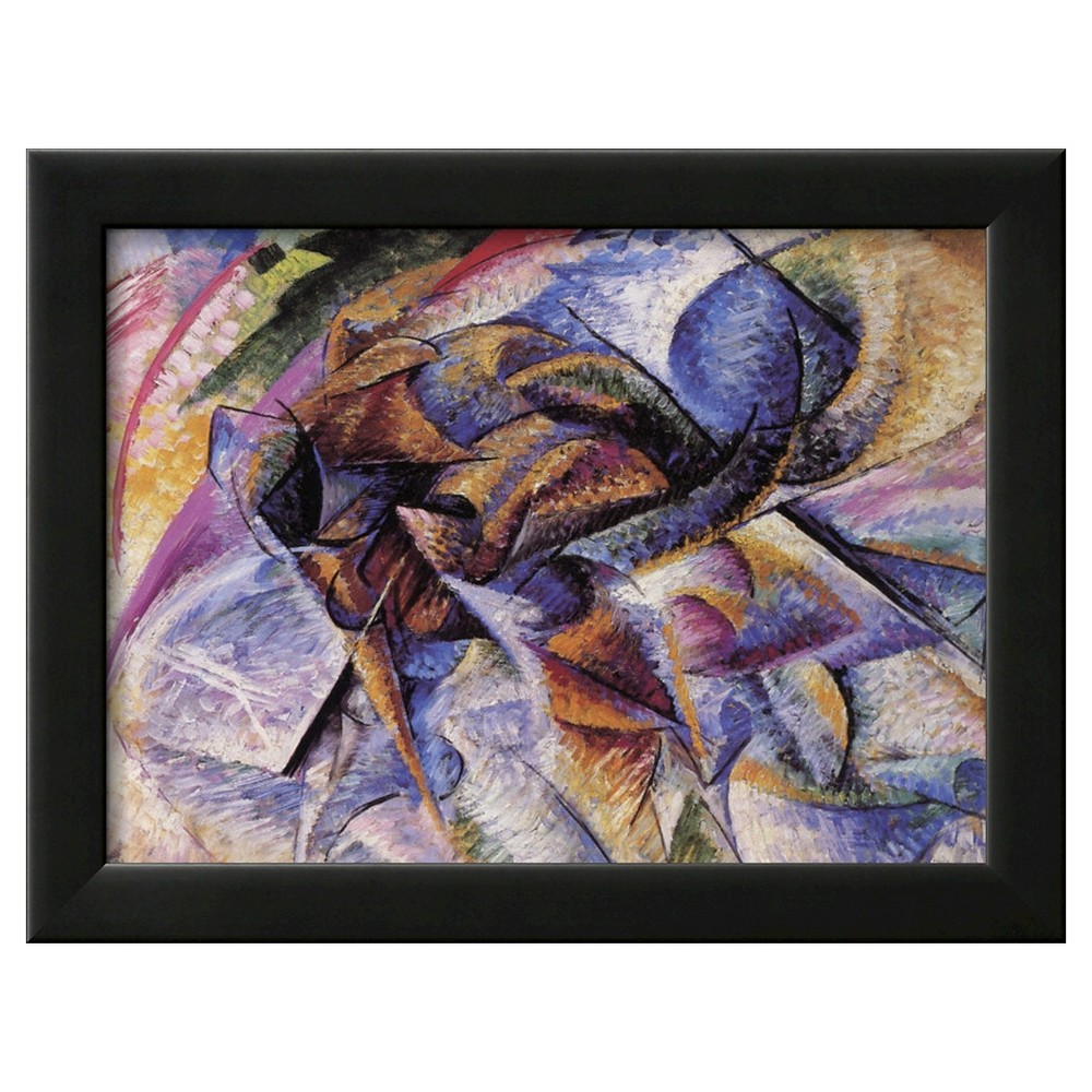 Art.com The Dynamism of a Cyclist by Umberto Boccioni - Framed Giclee Print, Black