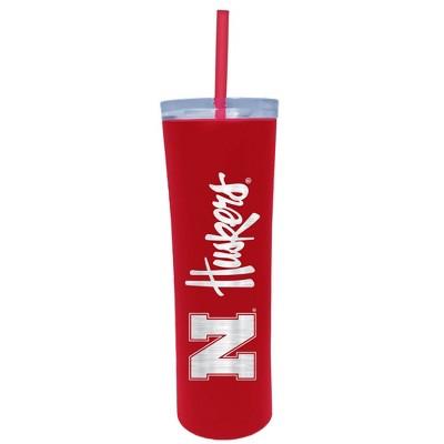 NCAA Nebraska Cornhuskers 18oz Stainless Steel Skinny Tumbler