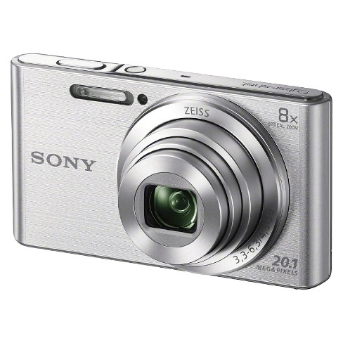Sony Cybershot DSCW830 20.1MP Digital Camera with Camera Case and 8GB Memory Card - Silver - image 1 of 5