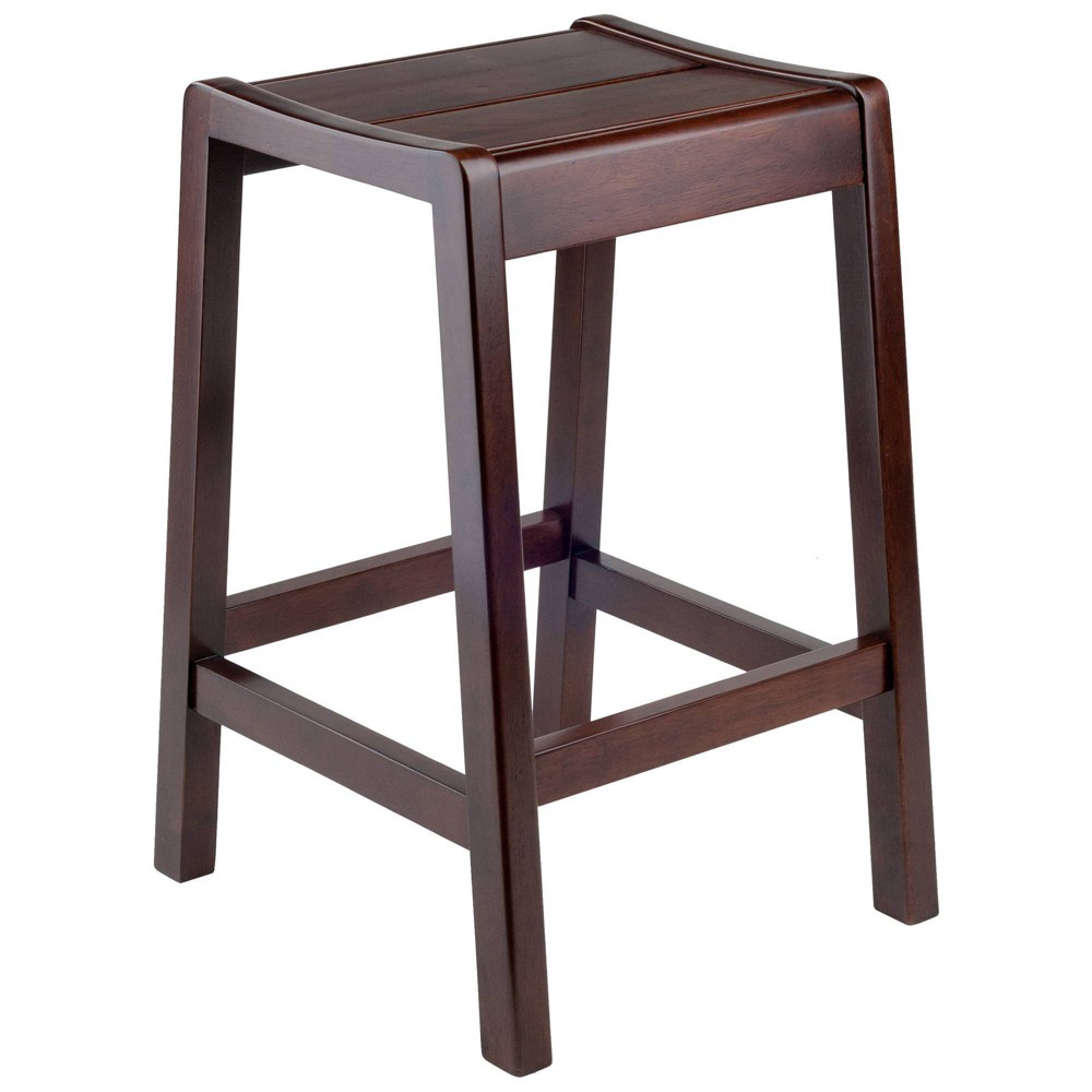 "Image of ""24"""" Alicante Counter Stool Walnut - Winsome"""