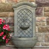 "31""H Rosette Leaf Outdoor Electric Wall Fountain - Limestone Finish - Sunnydaze Decor - image 3 of 4"