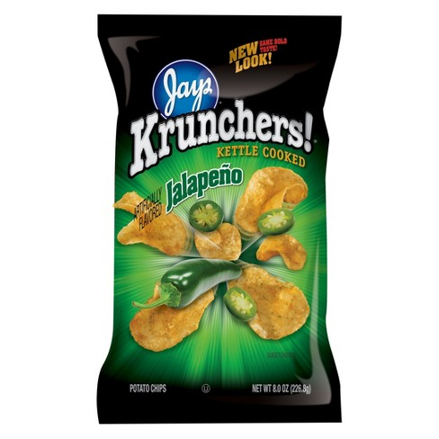 Krunchers Kettle Cooked Jalapeno Potato Chips - 8 oz - image 1 of 1