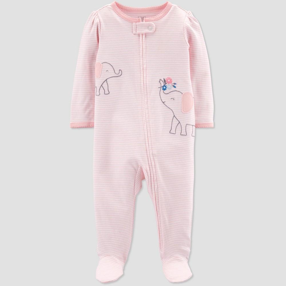 Carters Little Girls Long Sleeves Pinstripe Shirt 9m, Pink