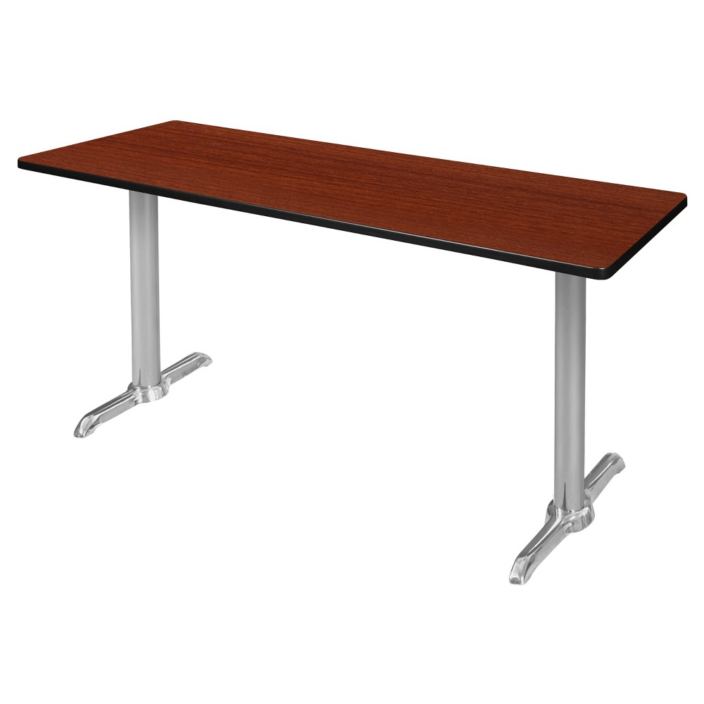 66 Via Training Table Cherry/Chrome (Red/Grey) - Regency