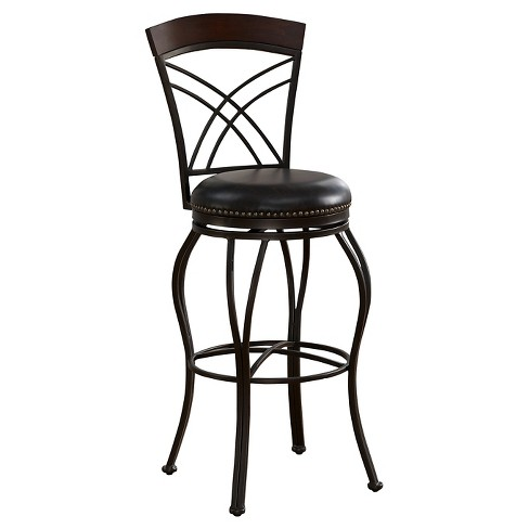 "30"" Caprice Barstool Metal/Black - American Heritage Billiards - image 1 of 4"