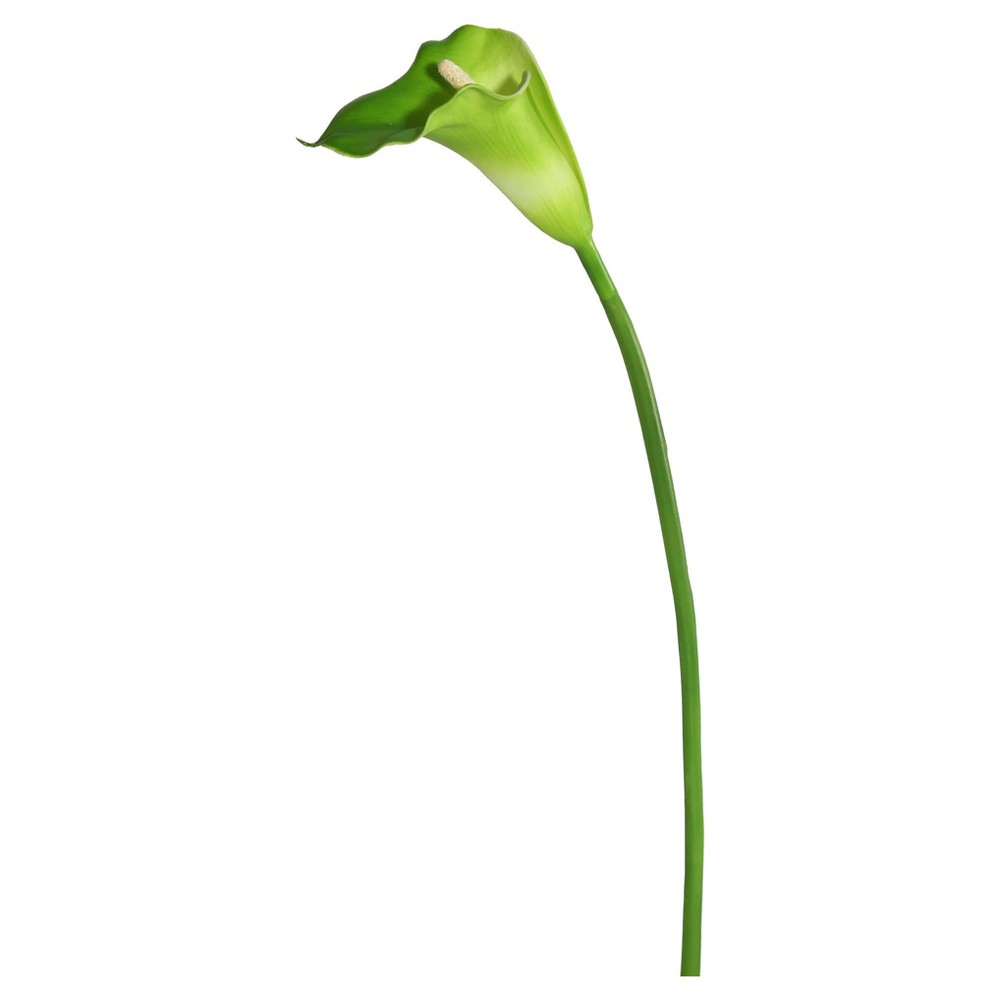 "Image of ""Artificial Calla Lily Large Stem (28"""") White/Green - Vickerman"""