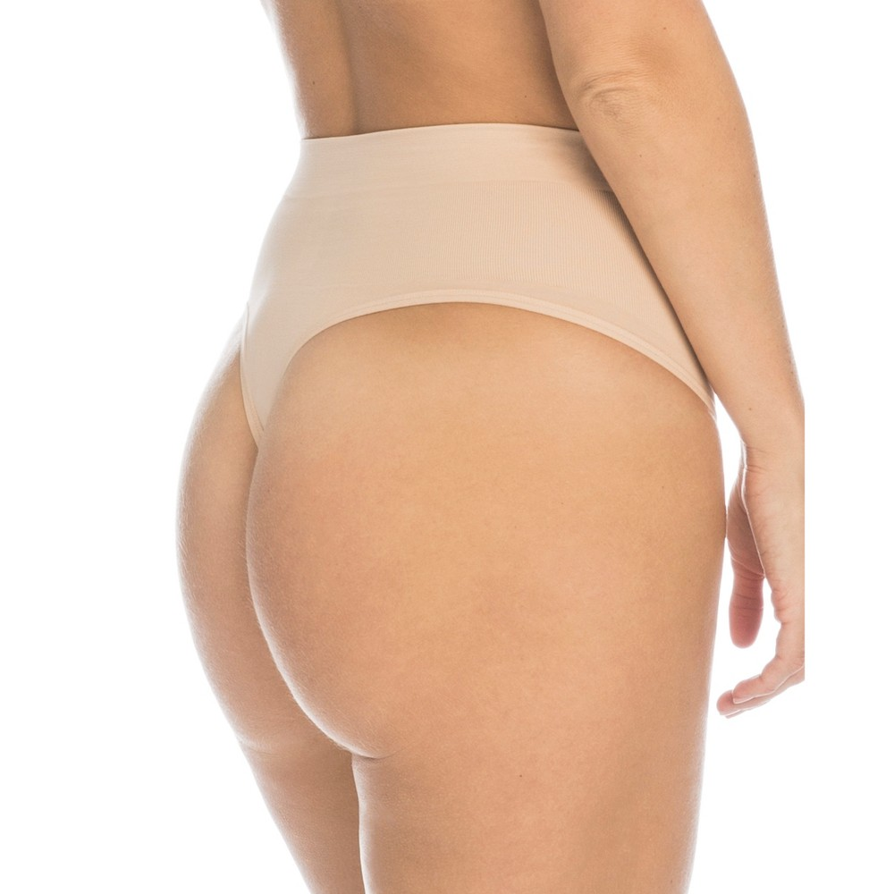 Assets by Spanx Women's All Around Smoothers Thong - Nude XL
