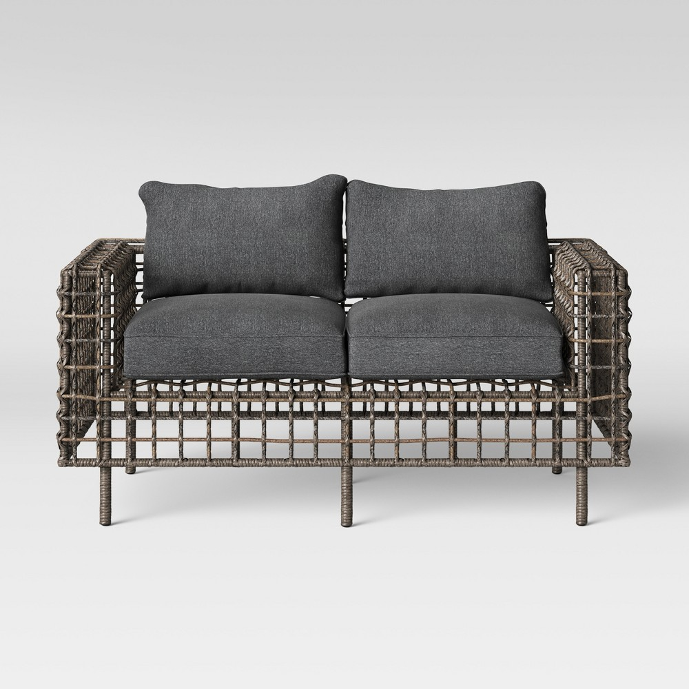 Isler Patio Loveseat - Charcoal - Project 62