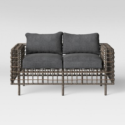 Isler Patio Loveseat   Charcoal   Project 62™