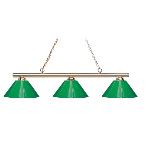 Billiard Ceiling Lights with Green Glass (Set of 3) - Z-Lite - image 1 of 1