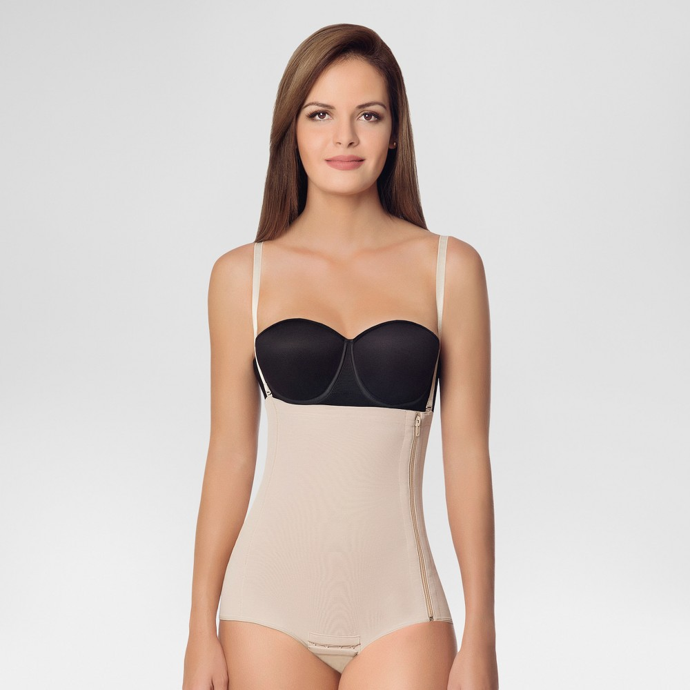 Annette Women's Post-Surgery Recovery Girdle with Side Zipper - Beige M