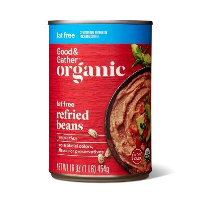 GG Organic Fat Free Refried Pinto Beans 16oz - Good & Gather™