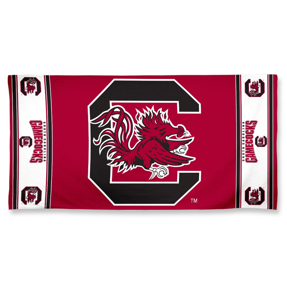 NCAA South Carolina Gamecocks Beach Bath Towel
