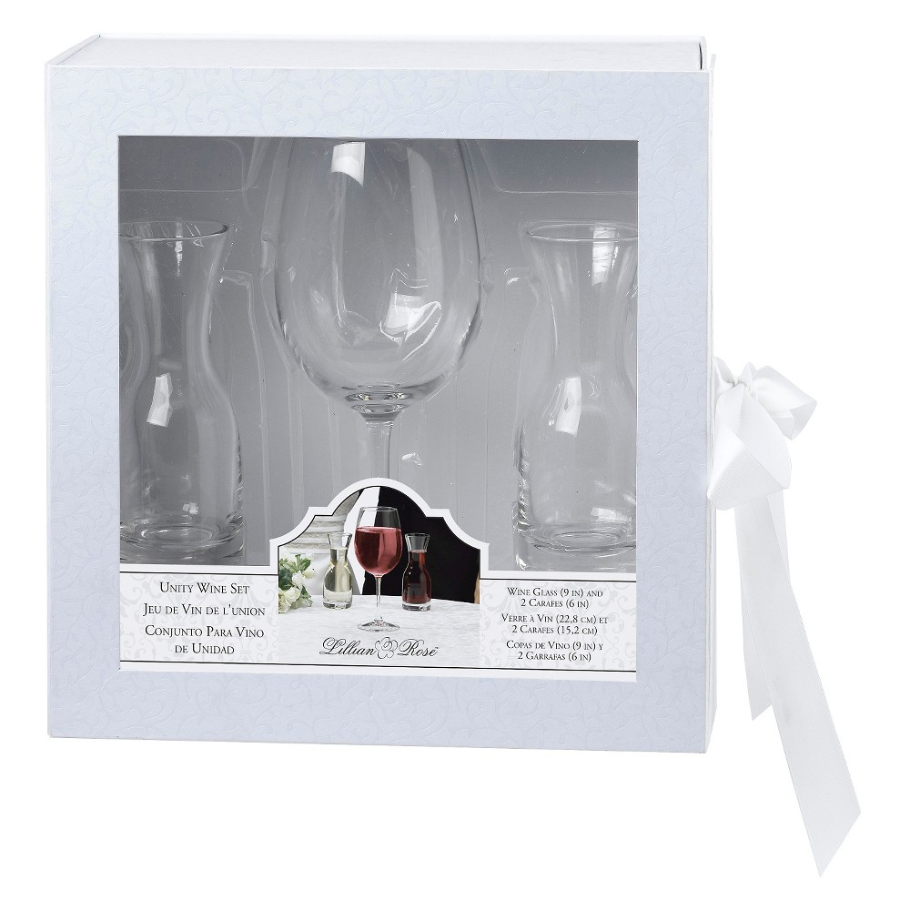 Image of Wine Glass with 2 Carafes Ceremony Set