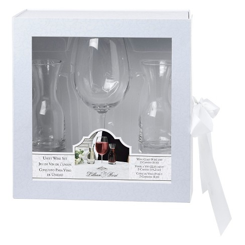 Wine Glass with 2 Carafes Ceremony Set - image 1 of 1