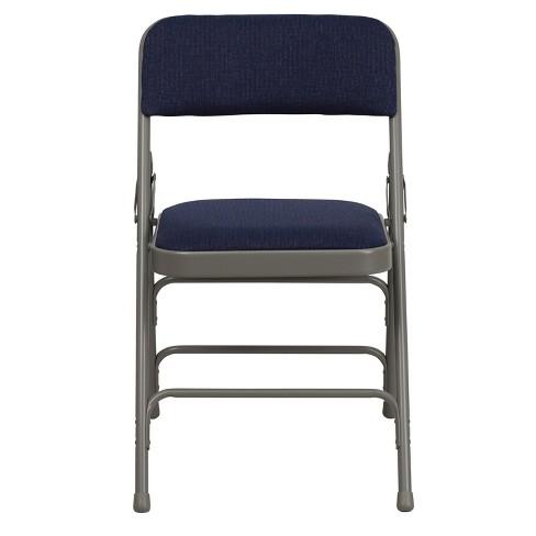 Riverstone Furniture Collection Fabric Folding Chair Navy Blue - image 1 of 4