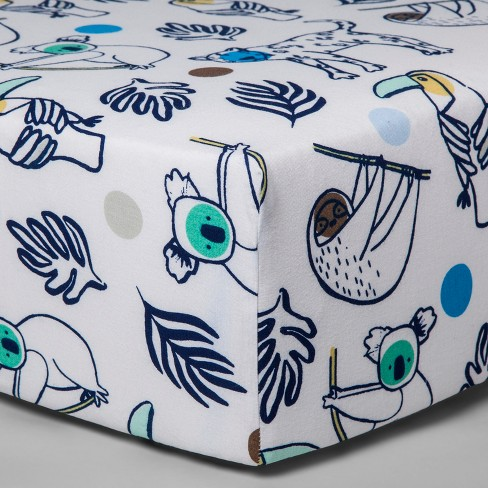 Fitted Crib Sheet Gone Wild - Cloud Island™ Navy - image 1 of 2