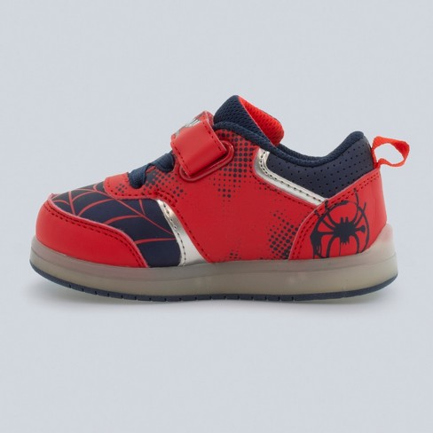 3d91a53c230d Toddler Boys  Marvel Spider-Man Light-Up Sneakers - Red   Target