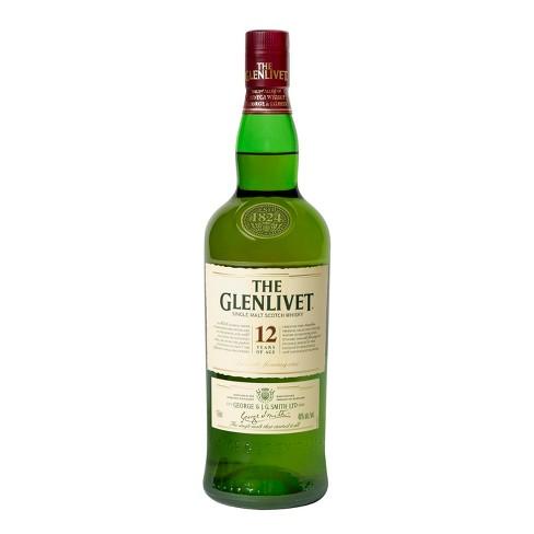 The Glenlivet 12 yr Single Malt Scotch Whisky - 750ml Bottle - image 1 of 4
