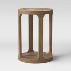 Castalia Round Accent Table Natural Wood - Threshold™